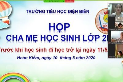 Họp phụ huynh online.